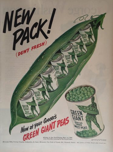 Vintage Jolly Green Giant Advertisement