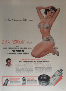 Vintage Mennen Shaving Cream Advertisement