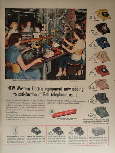 Vintage Western Electric Rotary Phone Advertisement