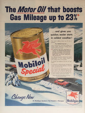 Vintage Mobil Oil Advertisement