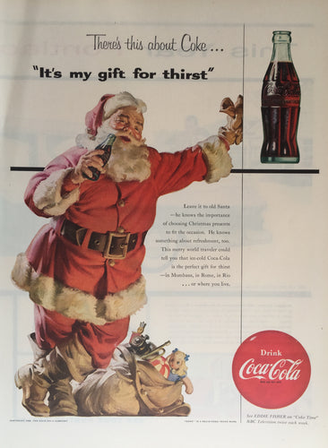 Vintage Coca-Cola Santa Christmas Advertisement