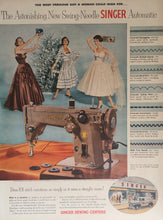 Vintage Singer Sewing Machine Advertisement