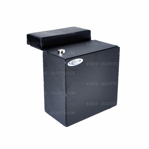 Storage Box With Adjustable Arm Rest & Lock Floor Plate Mount