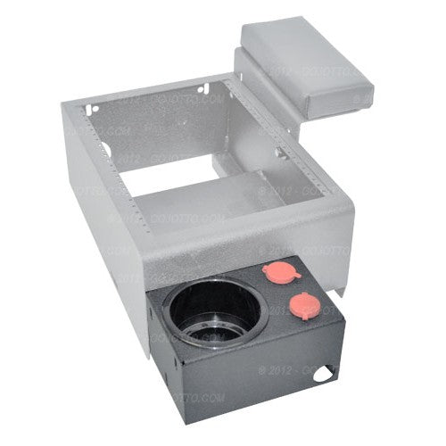 Single Cup Holder w/ (2) 12v Outlets (External Mount) - For 2011 Chevy Caprice Standard Console