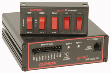 Carson SC-1012 Volunteer Remote Siren with 2 Level Light Control