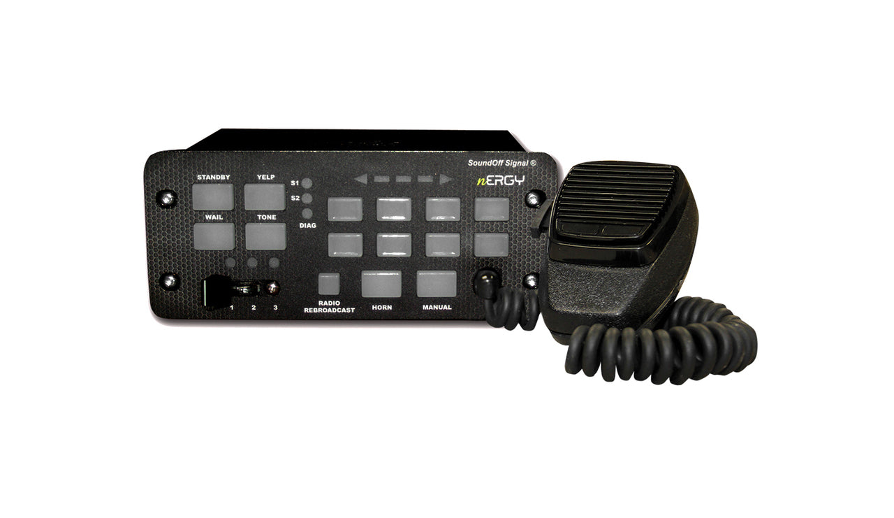 SoundOff Signal nErgy 400 Series Button Control Console Mount Siren - 100 Watt ETSA481CSP