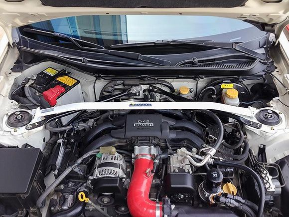 Carbing FRS/BRZ/86 Type I Strut Tower Bar with MCS, Left-Hand Drive Application (Front)
