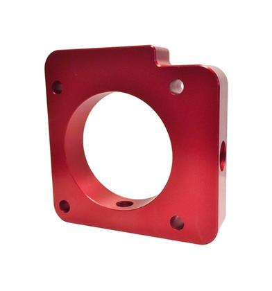 Torque Solution Throttle Body Spacer (Red) Subaru WRX 2006-2014 / STI 2004-2015