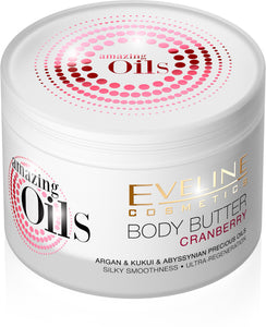Eveline amazing oils body butter - Cranberry 200ml