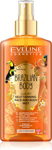 Eveline Brazilian body self-tanning face&body mist 150ml
