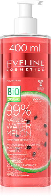 Eveline natural 99% water melon body&face hidrogel 400ml