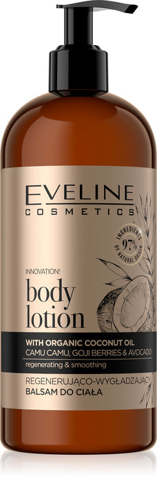 Eveline organic gold b.lotion coconut oil 500ml
