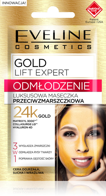 Eveline gold lift maska za lice 7ml