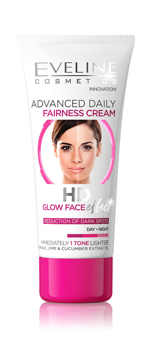 Eveline advanced daily fairness cream HD glow face effect 40ml