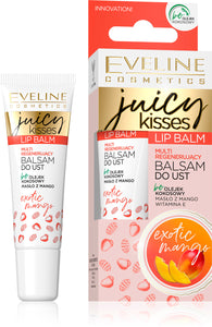 Eveline juicy kisses lip balm - exotic mango 12ml
