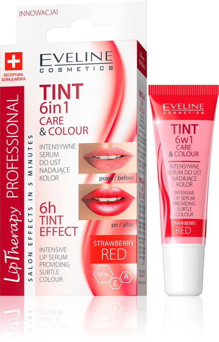 Eveline lip care 6u1 - tint red