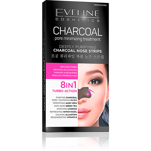 Eveline Charcoal nose strips