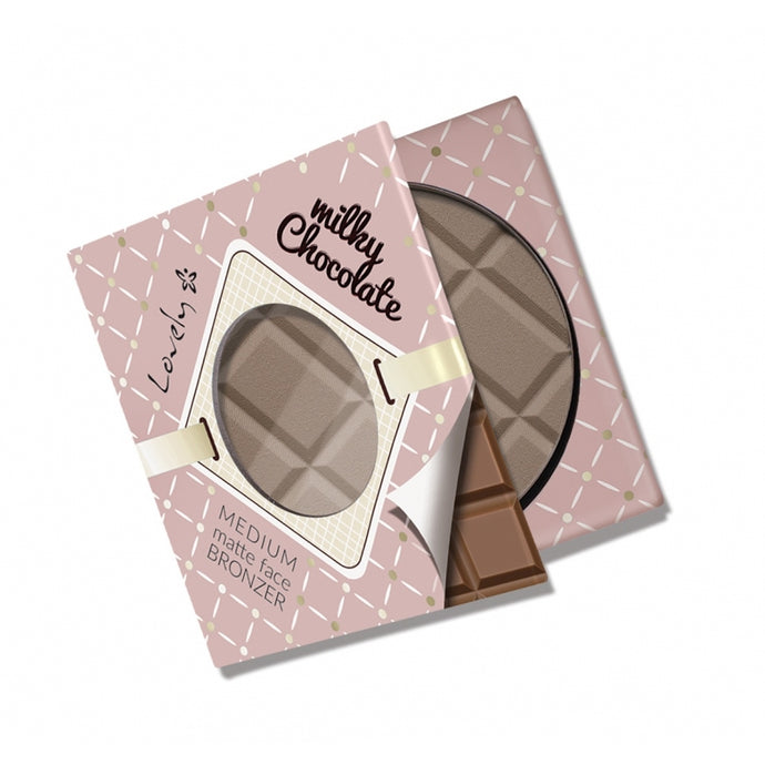 Matte face bronzer Medium - Milky chocolate