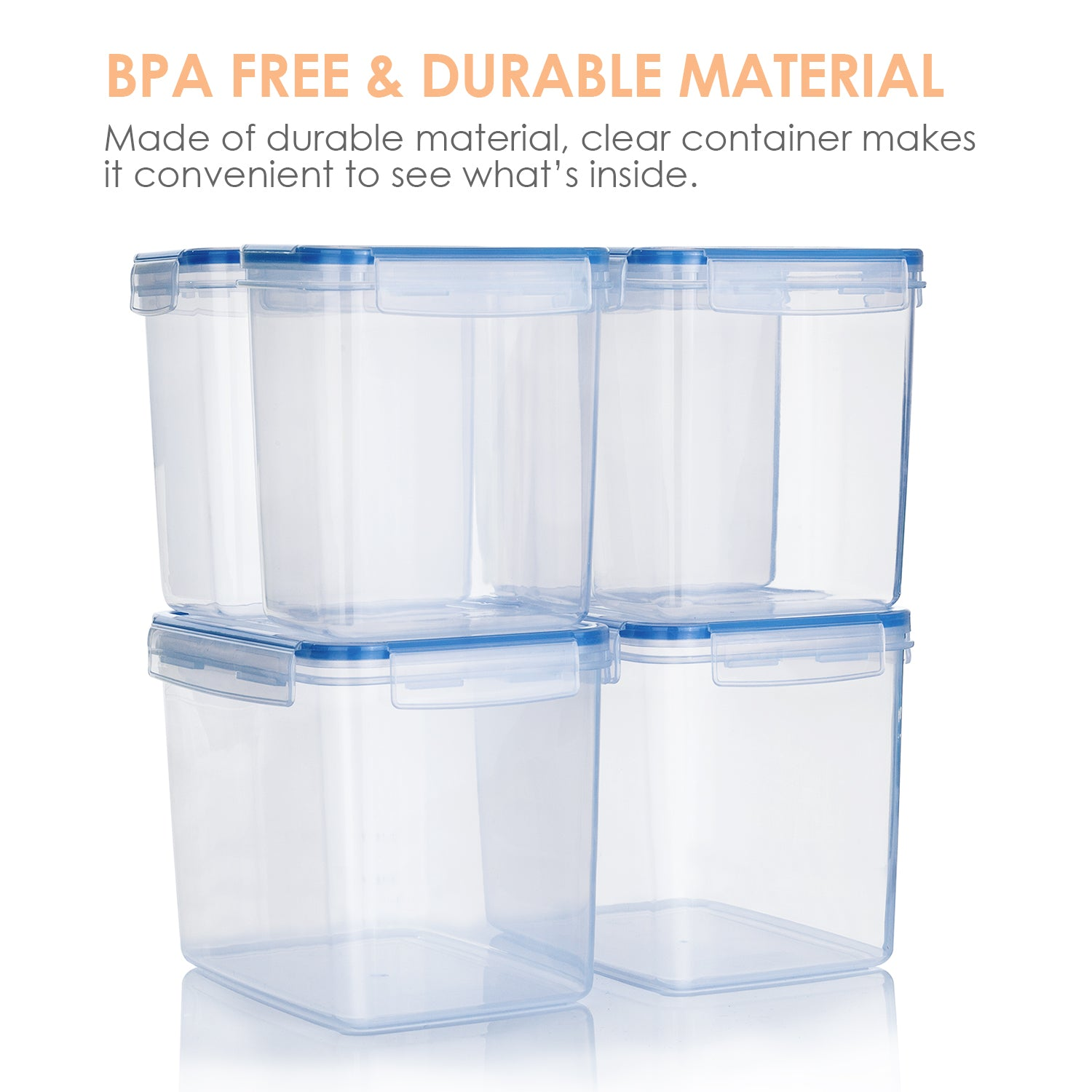 Vtopmart Airtight Food Storage Containers 6 Pieces - Plastic ...