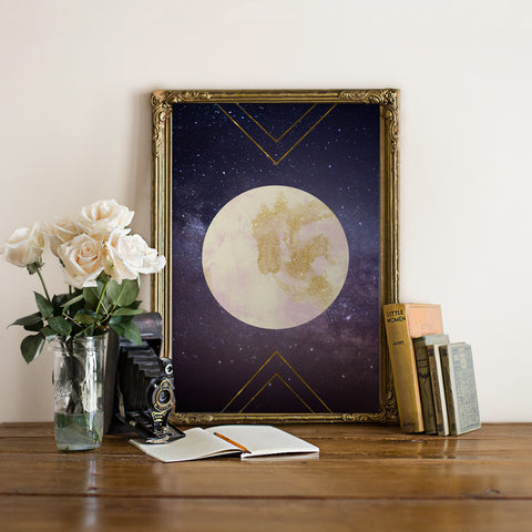 Glitter Moon - Printable Wall Art