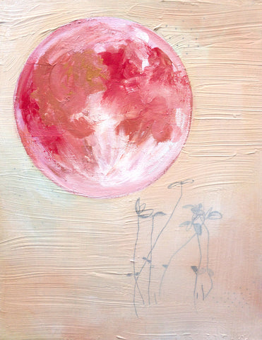 Pink Moon Art Print - Mai Autumn - Artwork