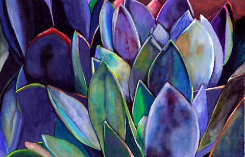 Purple Agave Art Print