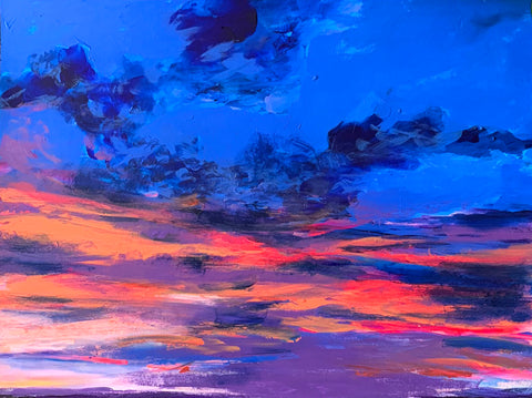 'Blue Sunset' Original Painting
