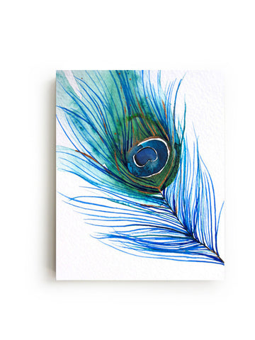 Peacock Feather Canvas Print - Mai Autumn - canvas prints