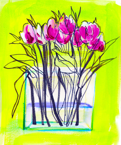 'Early Tulips' Original Painting