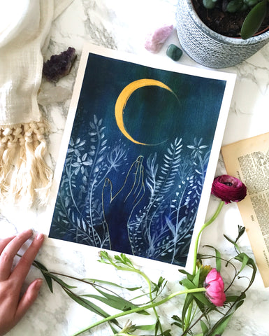'Flower Moon' Original Painting - Mai Autumn - Original Art