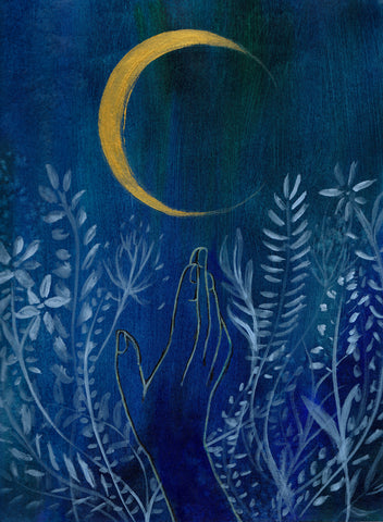 Flower Moon Art Print - Mai Autumn - Artwork