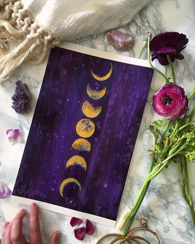 Moon Phases Art Print - Mai Autumn - Artwork
