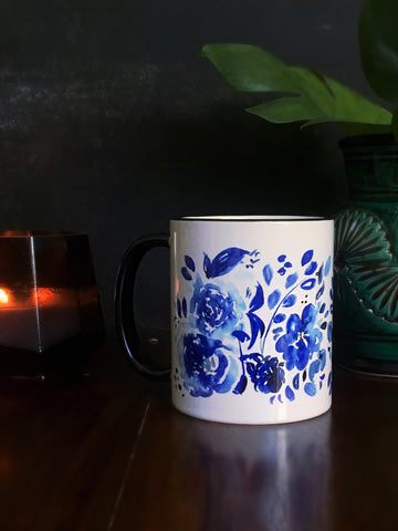 Blue Floral Mug - Mai Autumn - Mugs