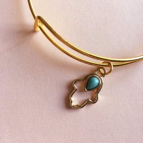 Hamsa Hand Bangle Bracelet - Mai Autumn - Bracelets