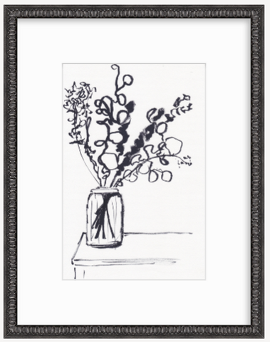 'Still Life Line Drawing' Original Drawing