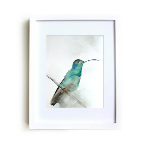 August Framed Print in White
