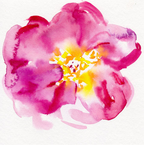 'Abstract Peony' Original Watercolor Sketch