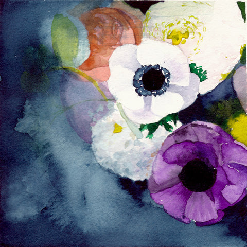 Anemones Art Print - Mai Autumn - Artwork