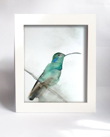 Framed Mini Print - August Hummingbird - Ready to Hang - Mai Autumn - Mini Framed Print