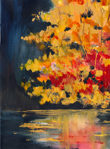 Autumn Lake Art Print - Mai Autumn - Artwork
