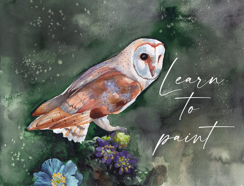 Barn Owl Watercolor - From Start to Finish