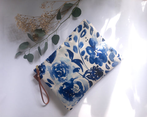 Blue Floral Zip Clutch - Mai Autumn - Bags
