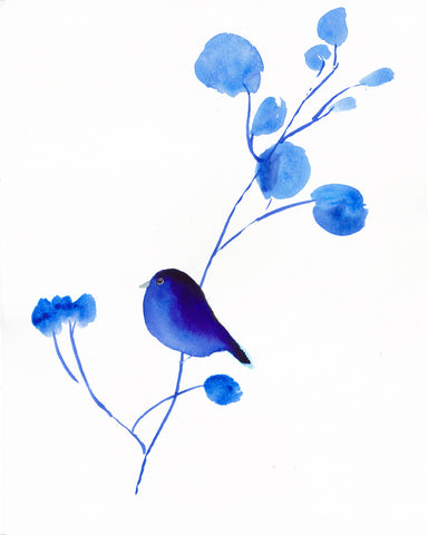 Bluebird II Art Print - Mai Autumn - Artwork