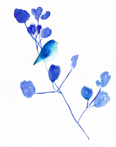 Bluebird I Art Print - Mai Autumn - Artwork