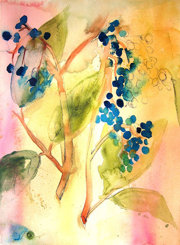 Botanical Abstract Art Print