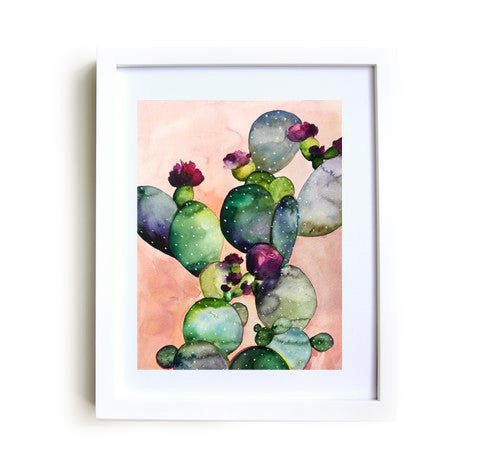 Desert Rose II Framed Print in White