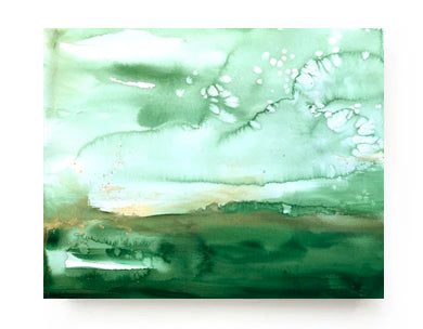 Emerald Landscape Canvas Print
