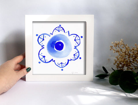 Framed Mini Print - Evil Eye - Ready to Hang - Mai Autumn - Mini Framed Print