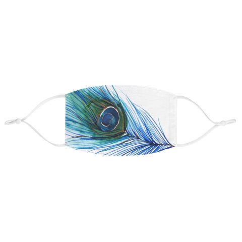 Peacock Feather Fabric Face Mask