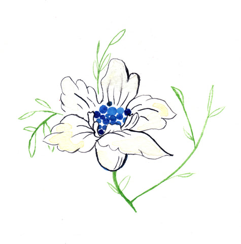 Flower With Blue Art Print